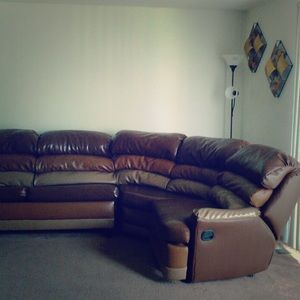 This is a 5 piece Leather Sectional.